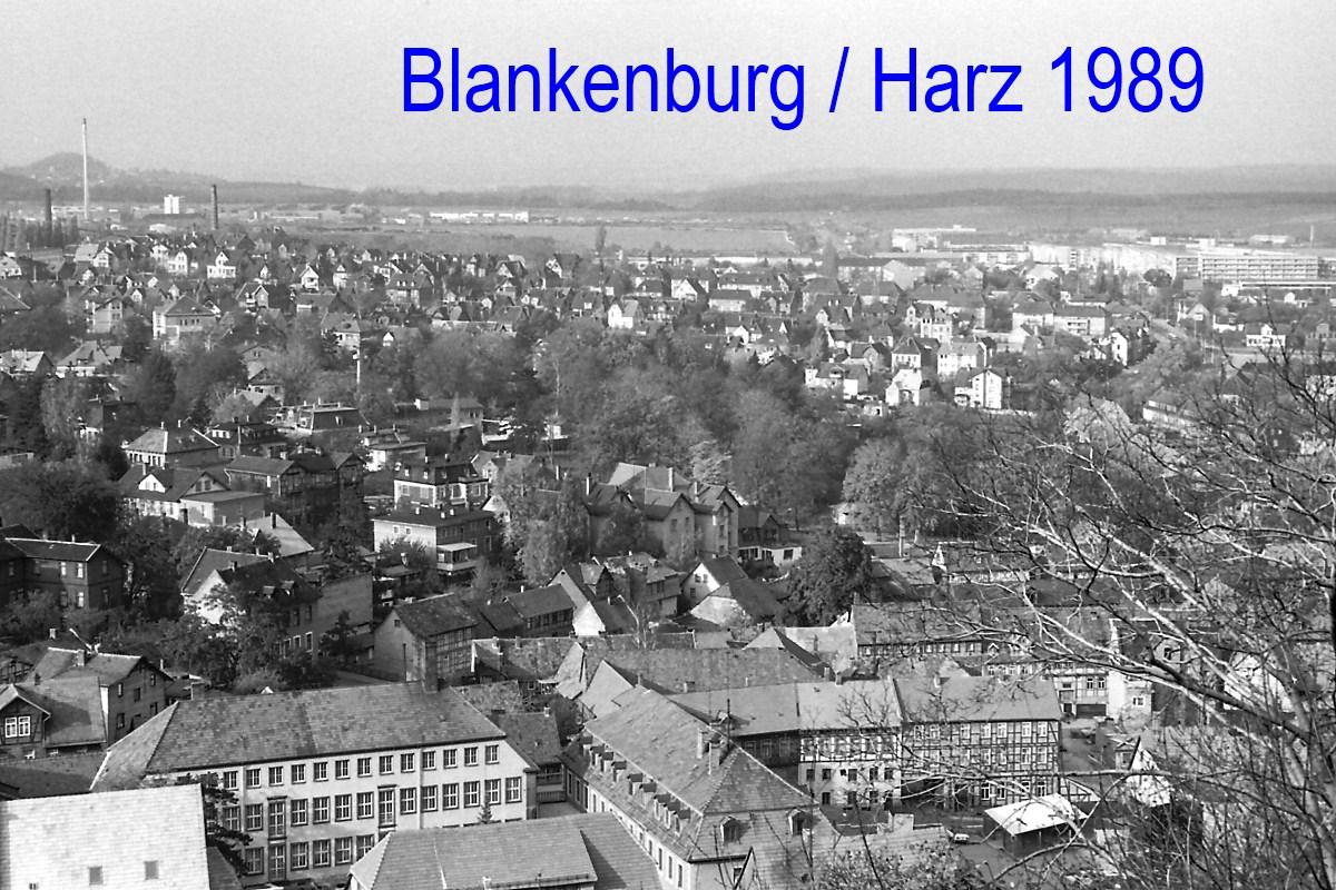 Blick auf Blankenburg / Harz 1989
