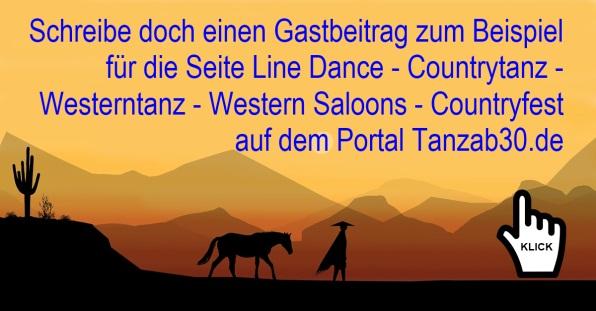 Schreibe doch einen Gastbeitrag für die Seite Line Dance
