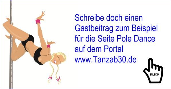 Schreibe doch einen Gastbeitrag für die Seite Pole Dance