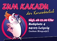 Karaoke in Leipzig.